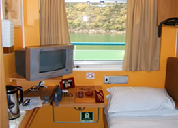 single cabin of China Regal Cruises