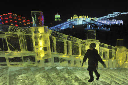 International Ice and Snow World at Harbin, Northeast China