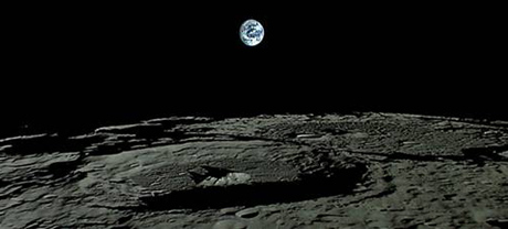 Japan's moon probe updates Earthrise